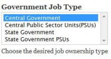 Step 5: Government Job/Ownership Type